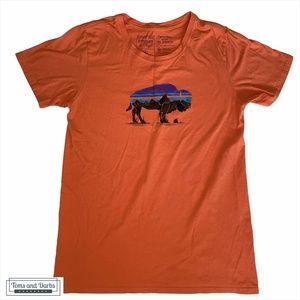 Men's Patagonia Bison Orange Short Sleeve T-Shirt